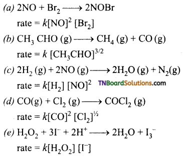 TN Board 12th Chemistry Important Questions Chapter 7 Chemical Kinetics 23