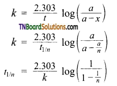 TN Board 12th Chemistry Important Questions Chapter 7 Chemical Kinetics 44