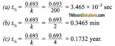 TN Board 12th Chemistry Important Questions Chapter 7 Chemical Kinetics 47