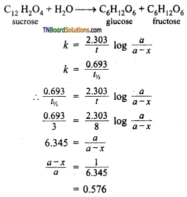 TN Board 12th Chemistry Important Questions Chapter 7 Chemical Kinetics 51
