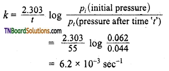TN Board 12th Chemistry Important Questions Chapter 7 Chemical Kinetics 54