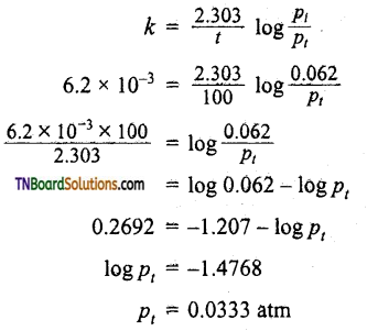 TN Board 12th Chemistry Important Questions Chapter 7 Chemical Kinetics 55