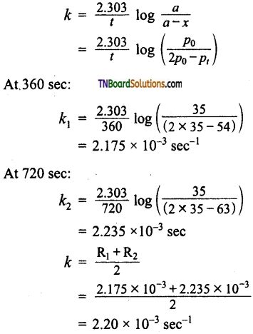 TN Board 12th Chemistry Important Questions Chapter 7 Chemical Kinetics 57