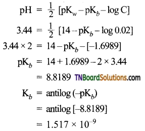 TN Board 12th Chemistry Important Questions Chapter 8 Ionic Equilibrium 34
