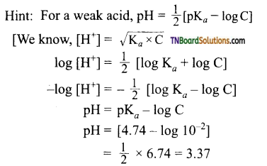 TN Board 12th Chemistry Important Questions Chapter 8 Ionic Equilibrium 51