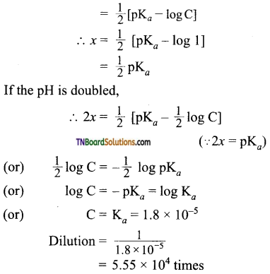 TN Board 12th Chemistry Important Questions Chapter 8 Ionic Equilibrium 52
