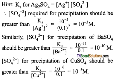 TN Board 12th Chemistry Important Questions Chapter 8 Ionic Equilibrium 55