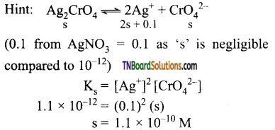 TN Board 12th Chemistry Important Questions Chapter 8 Ionic Equilibrium 57