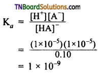 TN Board 12th Chemistry Important Questions Chapter 8 Ionic Equilibrium 8