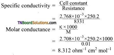 TN Board 12th Chemistry Important Questions Chapter 9 Electro Chemistry 10