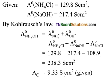 TN Board 12th Chemistry Important Questions Chapter 9 Electro Chemistry 11