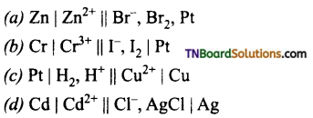TN Board 12th Chemistry Important Questions Chapter 9 Electro Chemistry 16