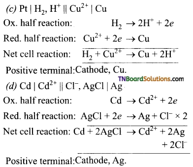TN Board 12th Chemistry Important Questions Chapter 9 Electro Chemistry 18