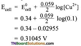 TN Board 12th Chemistry Important Questions Chapter 9 Electro Chemistry 33