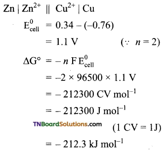 TN Board 12th Chemistry Important Questions Chapter 9 Electro Chemistry 38