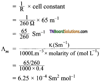 TN Board 12th Chemistry Important Questions Chapter 9 Electro Chemistry 46