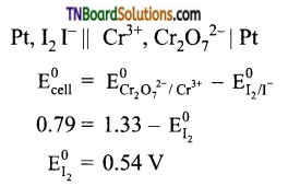 TN Board 12th Chemistry Important Questions Chapter 9 Electro Chemistry 54