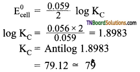 TN Board 12th Chemistry Important Questions Chapter 9 Electro Chemistry 56